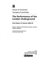 House of Commons   Transport Committee  The Performance of the London Underground PDF
