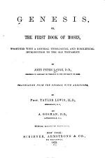 Genesis, Or The First Book of Moses