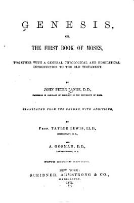 Genesis  Or The First Book of Moses PDF