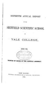 Report of the Sheffield Scientific School of Yale University