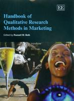 Handbook of Qualitative Research Methods in Marketing PDF