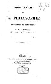 Histoire de la philosophie ancienne et moderne