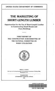 The Marketing of Short length Lumber PDF