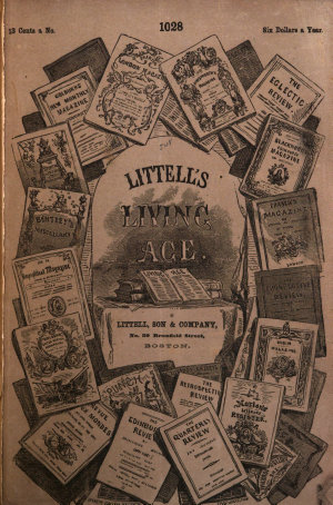 Thackeray s Place in English Literature  Cut from Littell s Living Age  Feb  13  1864   107
