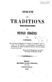 Analyse des traditions religieuses des peuples indigènes de l'Amérique