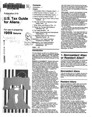 U S  Tax Guide for Aliens