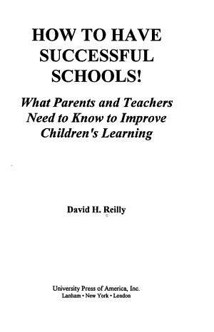 How to Have Successful Schools  PDF