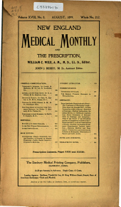 New England Medical Monthly: Volume 18, Issue 8