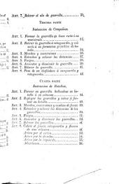 Instrucción de la táctica para el ejercicio y maniobras de la infantería ligera