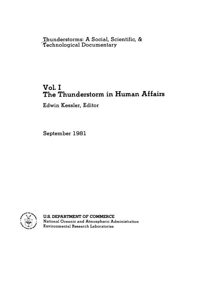 The Thunderstorm in Human Affairs