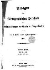 Stenographische Berichte über die Verhandlungen: Band 4
