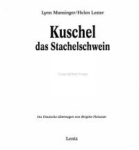 Kuschel  das Stachelschwein PDF