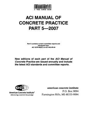 ACI Manual of Concrete Practice PDF