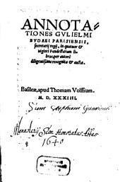 Annotationes ... in quatuor et viginti Pandectarum libros