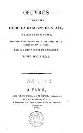 Oeuvres complètes de Mme la baronne de Staël: Volume2