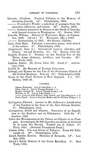 Catalogue of Additions Made to the Library of Congress PDF