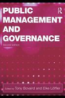 Public Management and Governance  Second Edition PDF