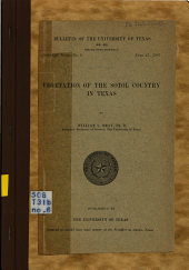 Vegetation of the Sotol Country in Texas: Issue 6