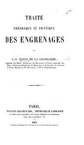Traité ... des Engrenages