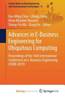 Advances in E-business Engineering for Ubiquitous Computing