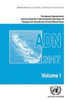 European Agreement Concerning the International Carriage of Dangerous Goods by Inland Waterways  ADN  2017 PDF