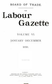 The Labour Gazette: Volume 6