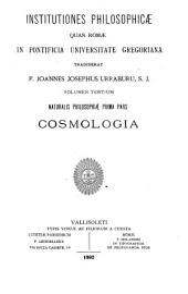 Institutiones philosophicae: Cosmologia