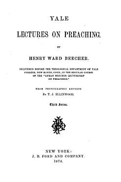 Yale Lectures on Preaching PDF