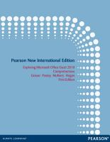 Exploring Microsoft Office Excel 2010 Comprehensive  Pearson New International Edition PDF