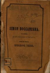 Simon Bocanegra: drama en un prólogo y tres actos