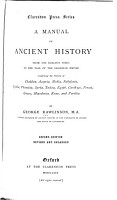 A Manual of Ancient History  from the Earliest Times to the Fall of the Sassanian Empire PDF