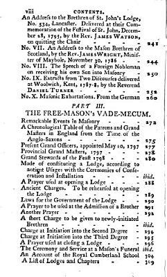 Masonic Miscellanies in poetry and prose  Containing I  The muse of masonry     II  The masonic essayist  III  The freemason s vademecum
