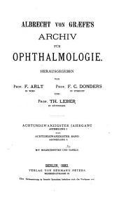 Albrecht von Graefes Archiv für Ophthalmologie: Band 28,Ausgaben 1-2