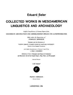 Collected Works in Mesoamerican Linguistics and Archaeology