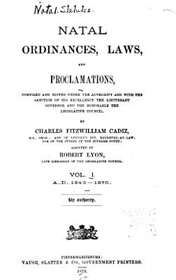 Natal Ordinances  Law  and Proclamations PDF