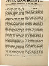 Upper Room Bulletin: Volume 4, Issue 21