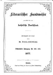 Literarischer Handweiser zunächst für alle katholische Deutschland: Band 16,Ausgaben 201-218