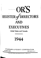 Poor s Register of Directors and Executives  United States and Canada PDF