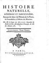 Histoire naturelle, générale et particulière, avec la description du Cabinet du roi ...: Volume1