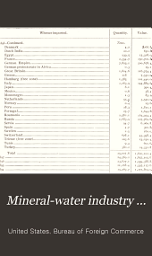 Mineral-water industry ...