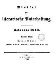Bl  tter f  r literarische Unterhaltung PDF