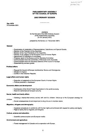 Orders of the Day  and  Minutes of Proceedings of the Fourth Part of the 2003 Ordinary Session of the Parliamentary Assembly  25 September   2 October 2003 PDF
