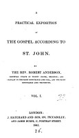 A practical exposition of the Gospel according to st  John PDF