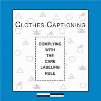 Coming clean complying with the care labeling rule  PDF