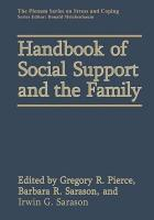 Handbook of Social Support and the Family PDF