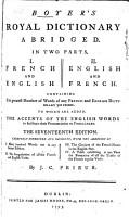Boyer s Royal Dictionary Abridged PDF