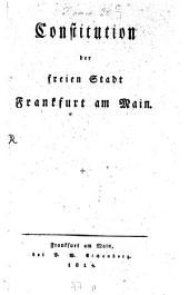 Constitution der freien Stadt Frankfurt am Main