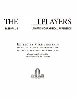 The Ballplayers PDF