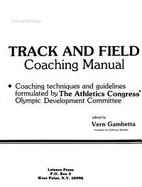 Track and Field Coaching Manual