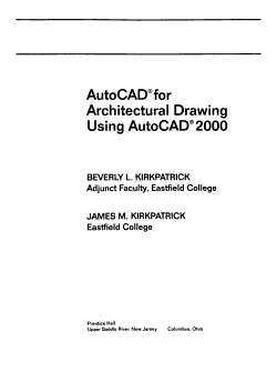 AutoCAD for Architectural Drawing Using AutoCAD 2000 PDF